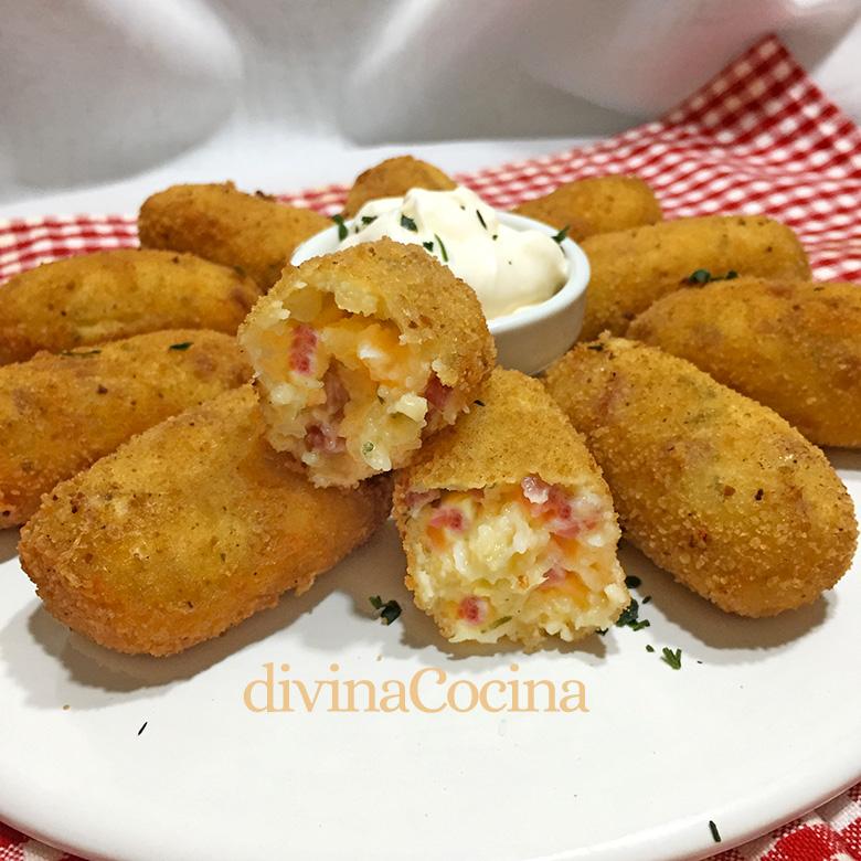 croquetas de patata jamon serrano queso