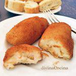 Croquetas de queso, miel y nueces