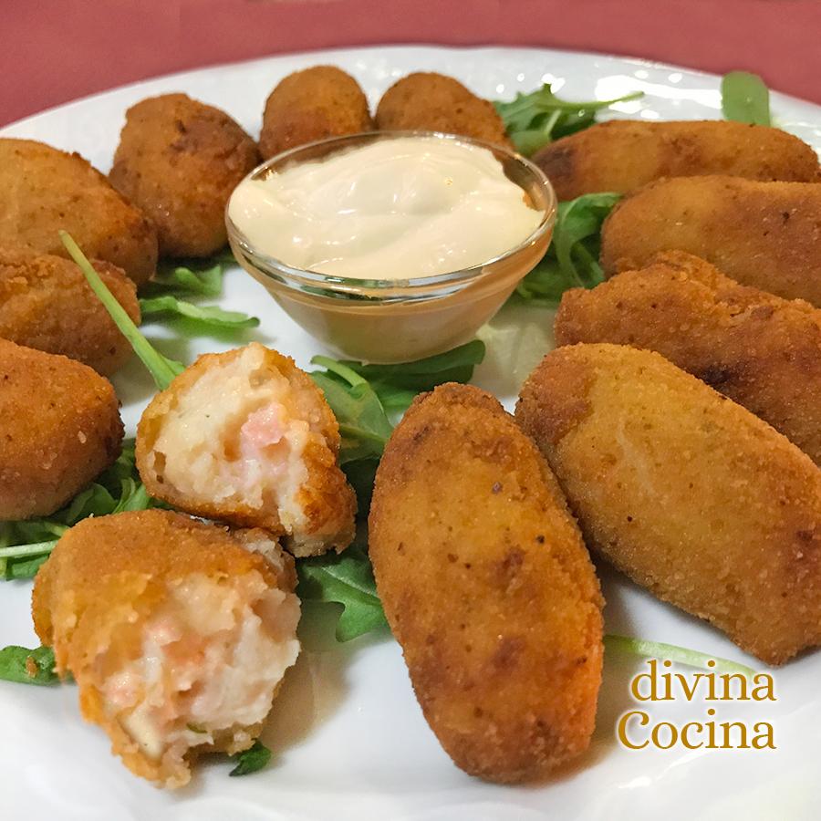 Receta De Croquetas De Salmón Y Queso Crema Divina Cocina