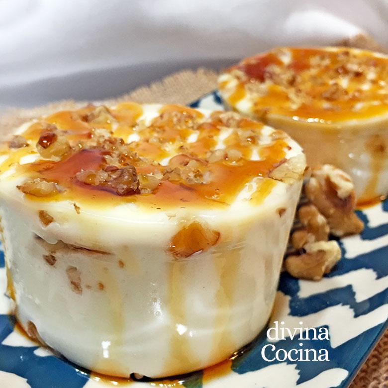 cajada de nata queso y nueces