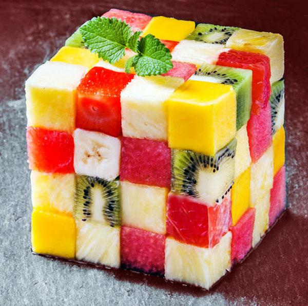 cubo de frutas