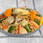 Cuscús marroquí de pollo y verduras