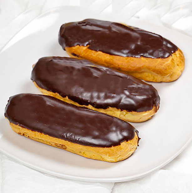 eclairs con chocolate