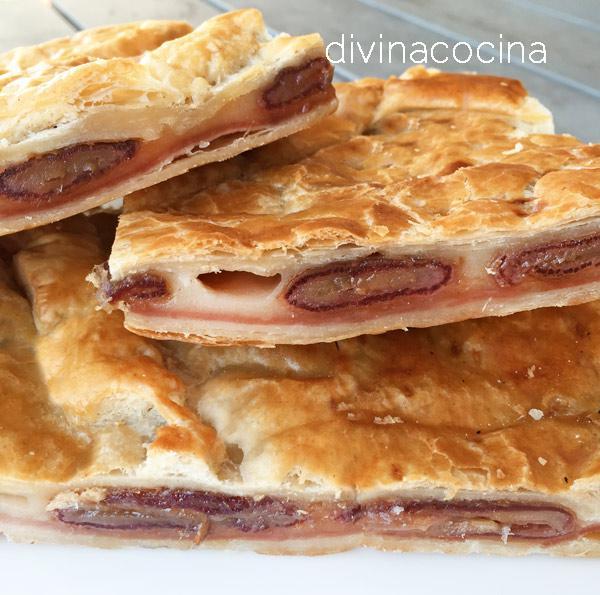 receta de empanada de datiles jamon y queso