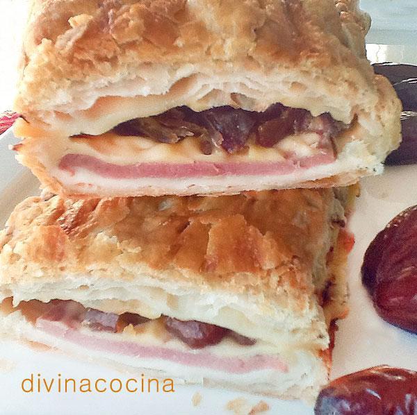receta de empanada de datiles,jamon y queso