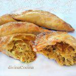 Empanadillas de pollo al curry con almendras