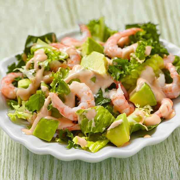 Ensalada De Aguacate Y Gambas Con Salsa Mil Islas Divina Cocina