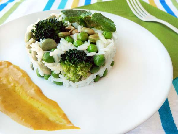 Ensalada de arroz y verduritas