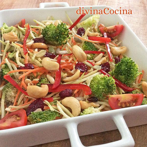 ensalada crudités de verduras