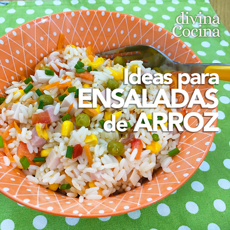 Ideas y recetas de ensaladas de arroz - Divina Cocina