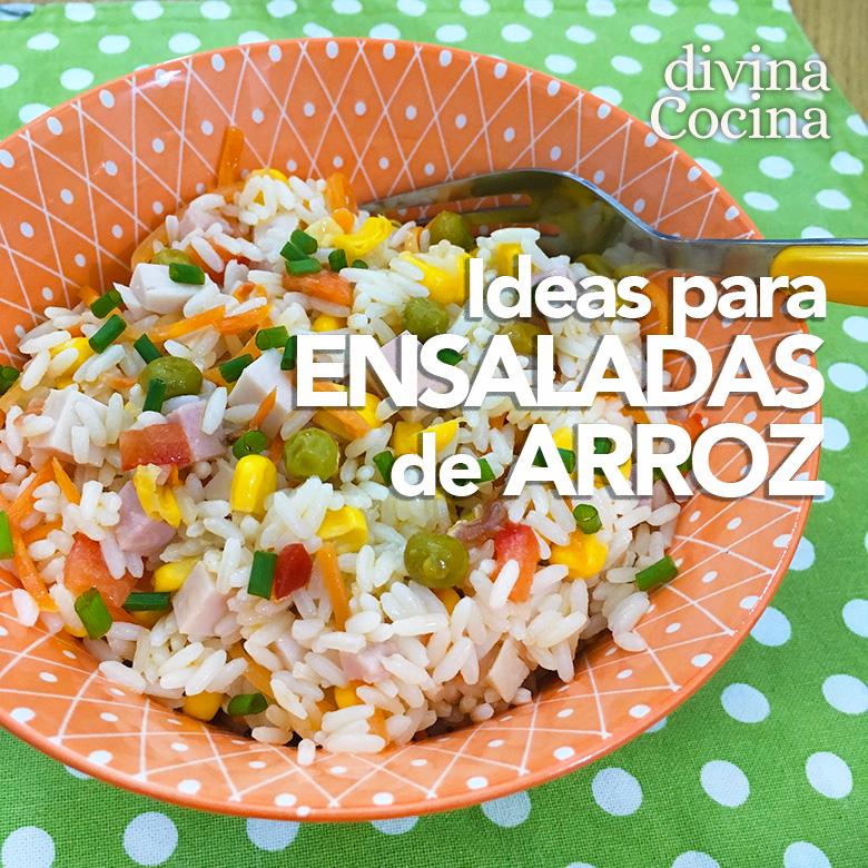 Ideas y recetas de ensaladas de arroz divina cocina - Ensalada de arroz light ...