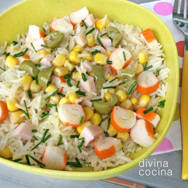 Usos y variedades del arroz divina cocina - Ensalada de arroz light ...