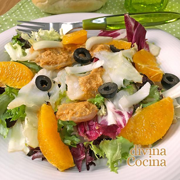 ensalada de bacalao con romesco D