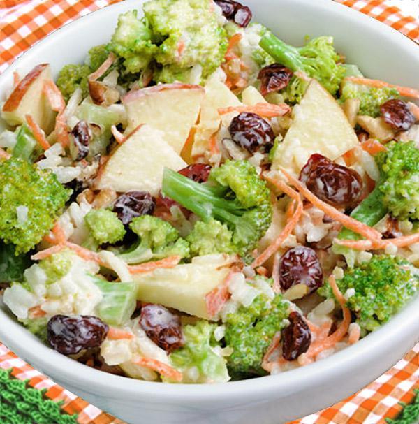 ensalada de brócoli manzana y nueces