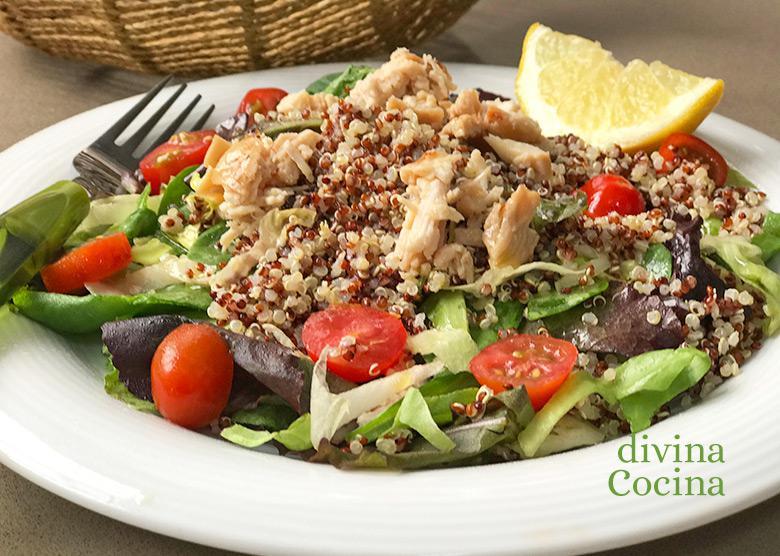 ensalada de quinoa y pollo F