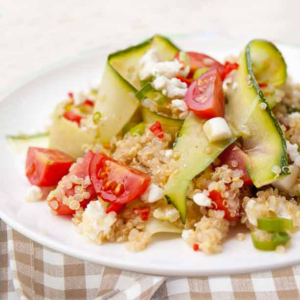 Ensalada de quinoa y calabacín