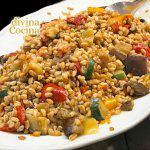 Ensalada de trigo con verduras