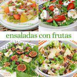 12 ensaladas con frutas