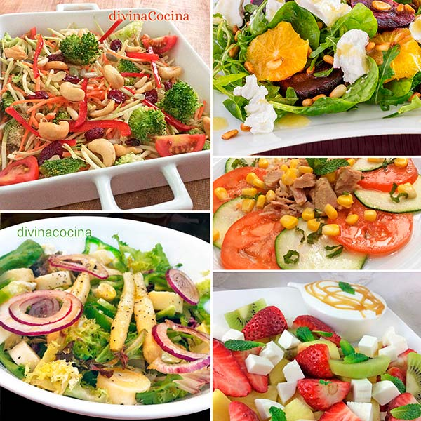 Recetas de ensaladas saludables bajas en calorias
