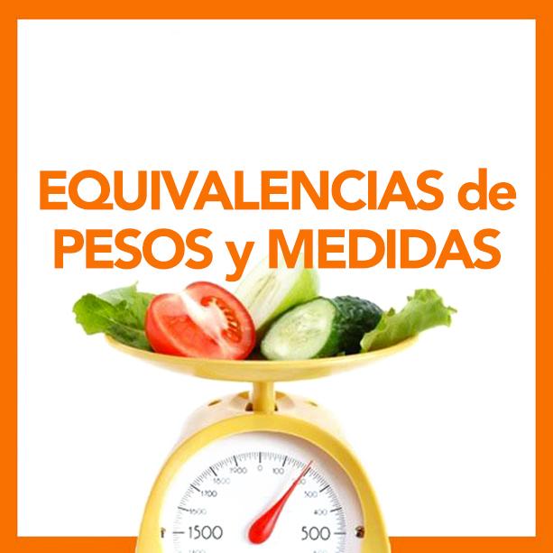 tablas de equivalencias pesos y medidas