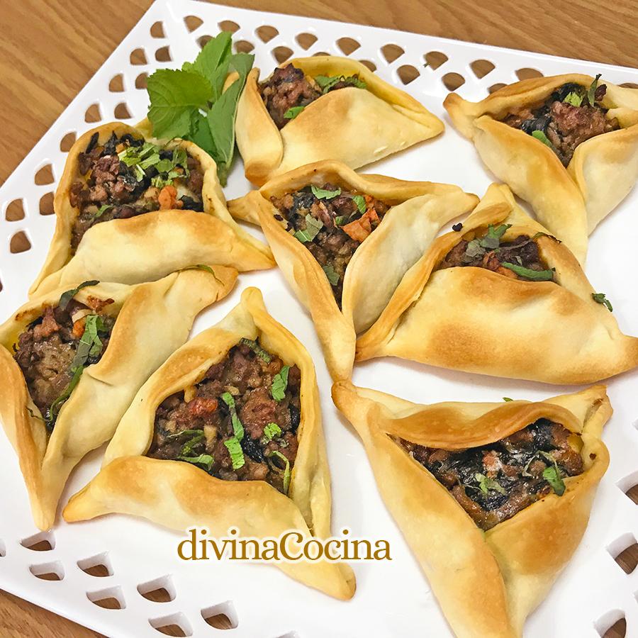 fatayer empanadillas arabes de carne y verduras
