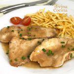 Filetes de pollo en salsa rápida