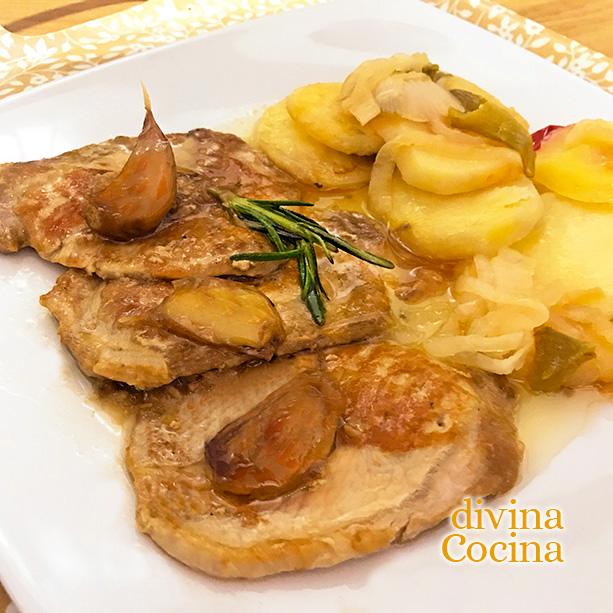 filetes en salsa lomo de cerdo