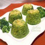 Flan de brócoli fácil en el microondas