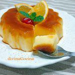 Flan de naranja sin horno