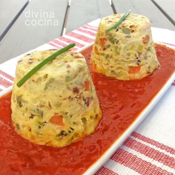 receta de flan de verduras