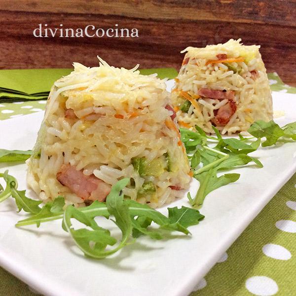 Flanes de arroz y queso