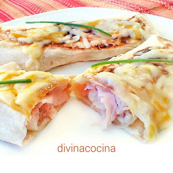 Receta de flautas de jam n y queso divina cocina for Canape de jamon y queso