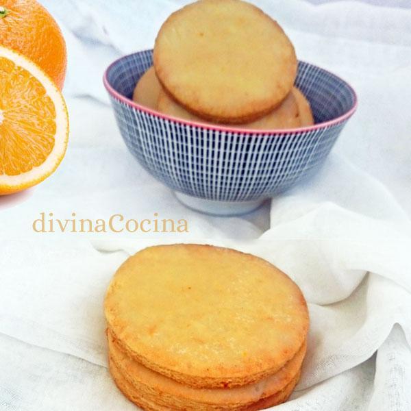 Galletas de naranja y miel