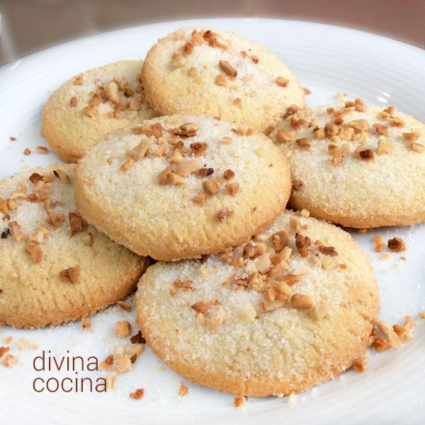 galletas de queso crema y almendras
