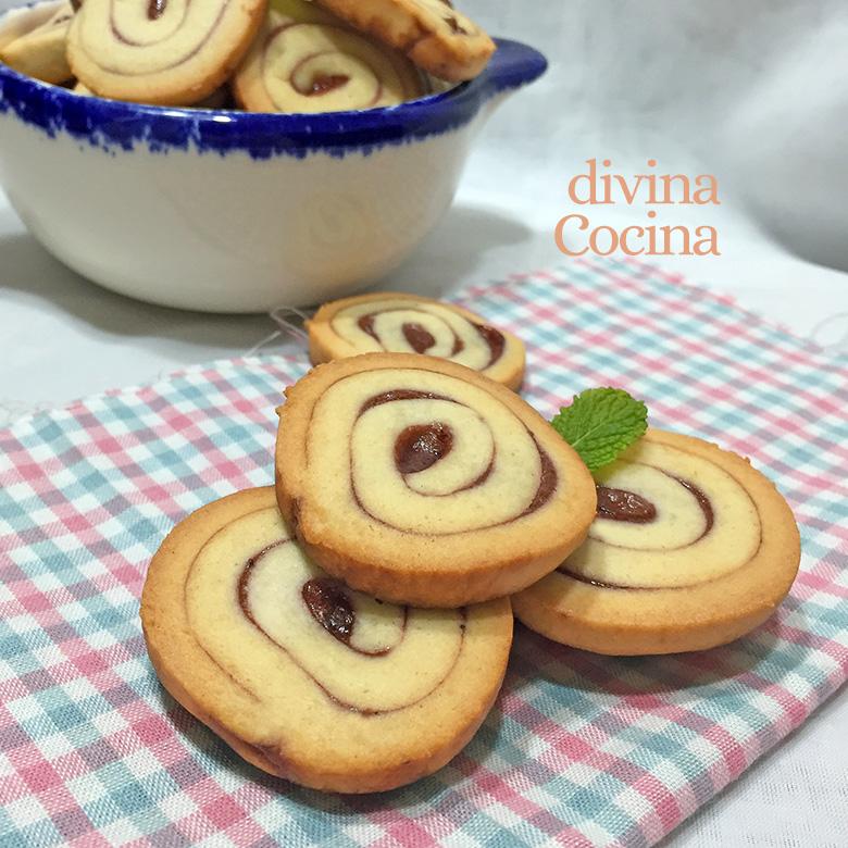 galletas espirales de mermelada