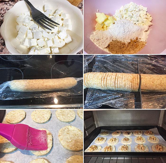 galletas saladas queso nueces paso a paso