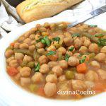 Potaje de garbanzos y verduras