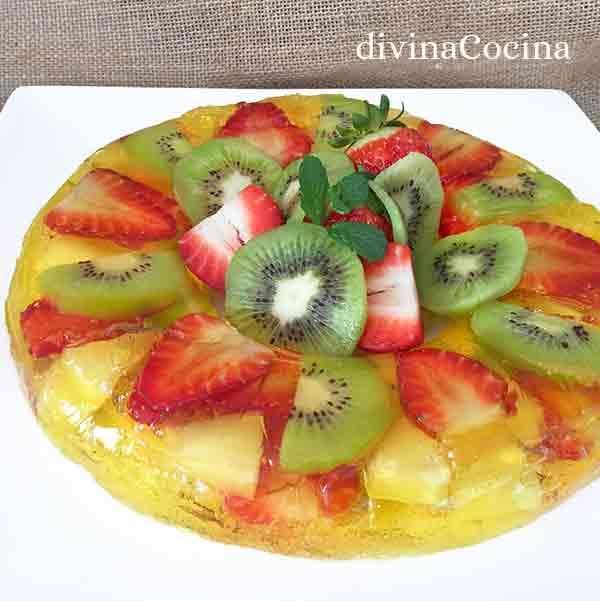 gelatina de frutas frescas