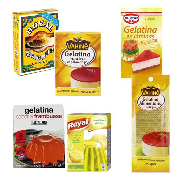gelatinas sus tipos y cómo usarlas