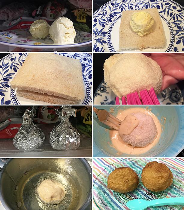 helado frito chino paso a paso