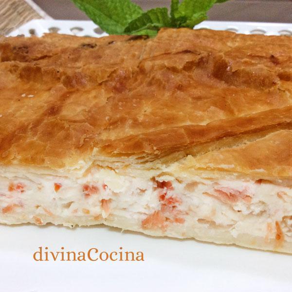 receta de hojaldre de salmon y queso
