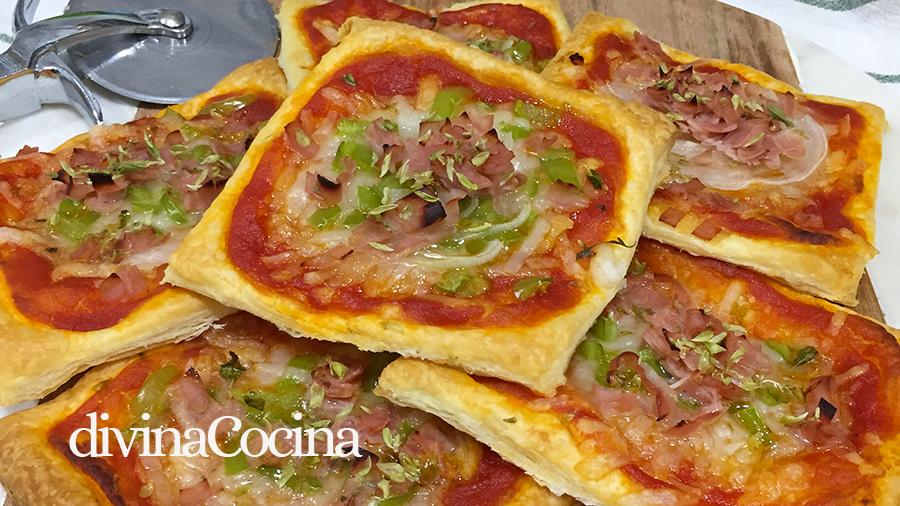 mini pizzas de hojaldre F