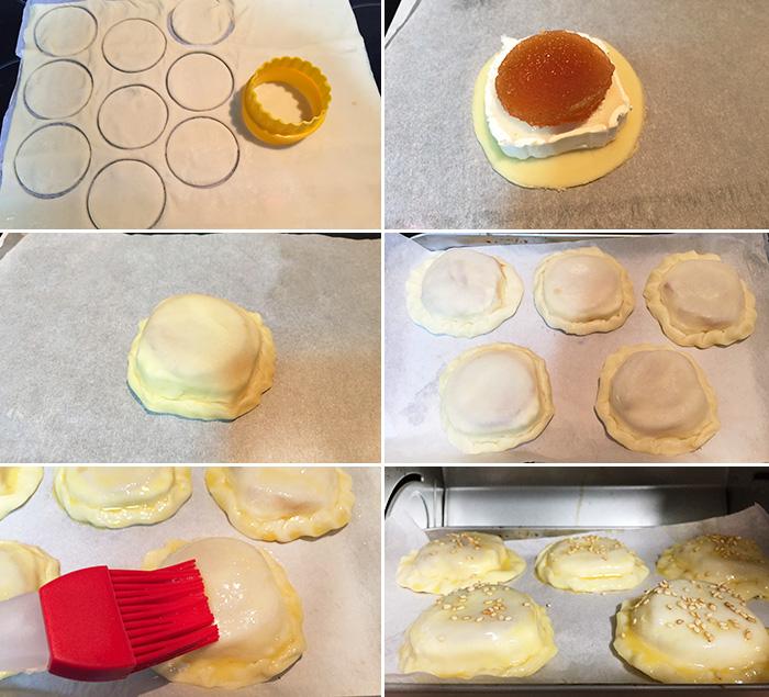 hojaldres de queso paso a paso