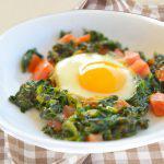 Huevo con verduras en 3 minutos
