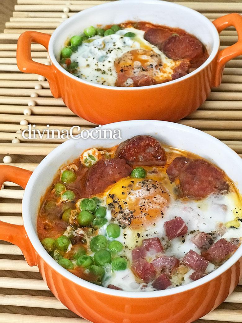 huevos al plato en el microondas