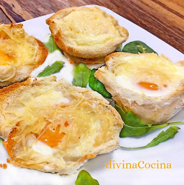 huevos en pan de molde