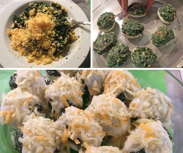 recetas huevos rellenos gratinados