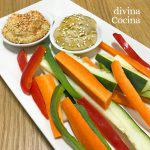 Crudités de verduras con salsas