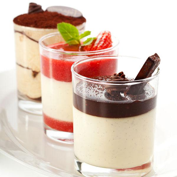 ideas para vasitos de panna cotta