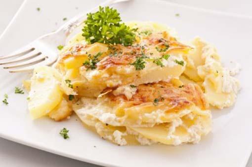 patatas gratinadas crema